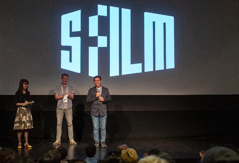 香港電影導演關錦鵬四月十三日(三藩市時間)出席第六十二屆三藩市國際電影節《八個女人一台戲》放映會。