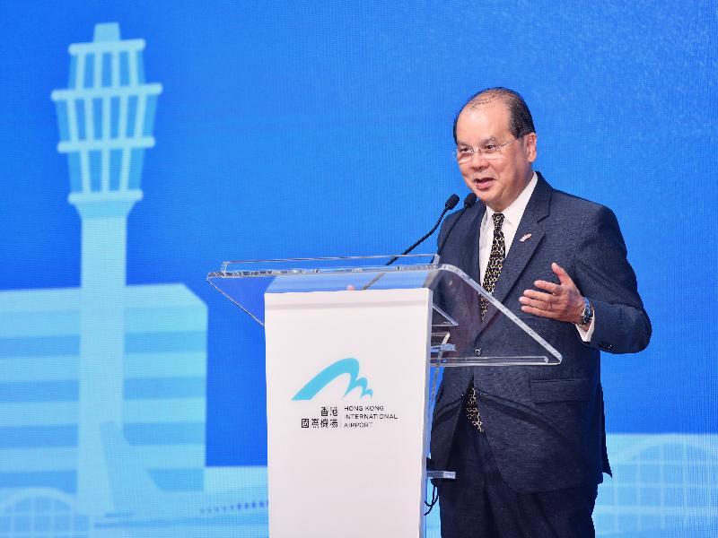 政務司司長張建宗今日(五月二十二日)在「里‧想高飛」周年活動2019致辭。