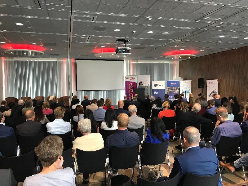香港駐布魯塞爾經濟貿易辦事處七月二日(鹿特丹時間)在荷蘭鹿特丹參與合辦探討粵港澳大灣區商機的商貿研討會。