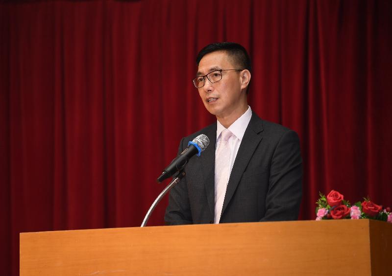 教育局局長楊潤雄今日(七月十日)在香港道教聯合會青松中學致辭,勉勵應屆香港中學文憑考試考生。
