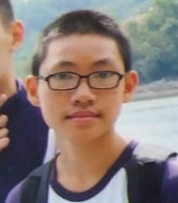 Lai Ming-sing, aged 12, Lai Ming-sing, is about 1.6 metres tall, 50 kilograms in weight and of thin build. He has a pointed face with yellow complexion and short black hair. He was last seen wearing a pair of glasses, a white short-sleeved T-shirt, grey shorts and blue sports shoes.