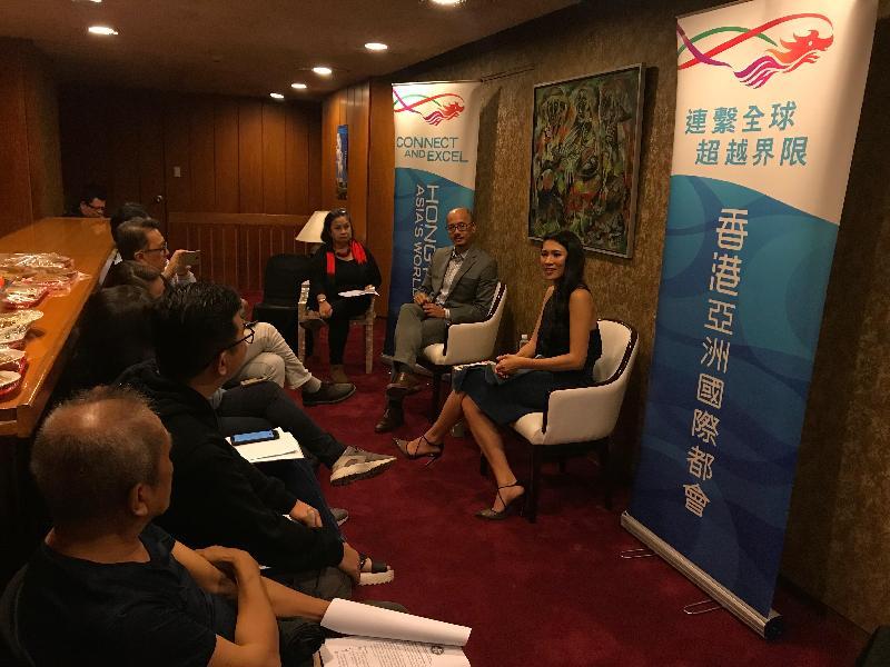 電影《淪落人》女主角 Crisel Consunji和香港駐雅加達經濟貿易辦事處處長羅建偉今日(八月十日)出席在馬尼拉菲律賓文化中心舉行的傳媒簡介會。