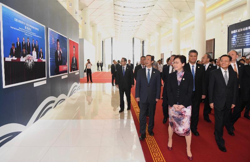 行政長官林鄭月娥(前排右二)今日(九月六日)在南寧出席2019年泛珠三角區域合作行政首長聯席會議。