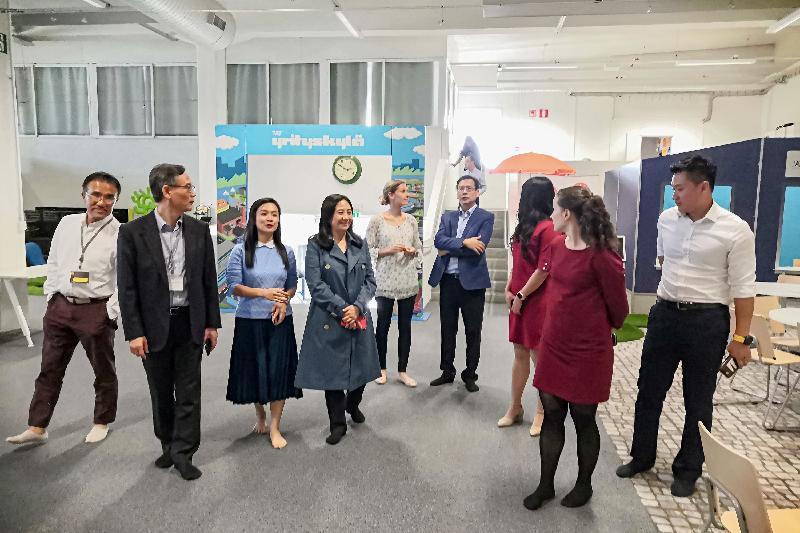 The delegation of the Legislative Council toured Me & MyCity in Helsinki, Finland, yesterday (September 10, Helsinki time).