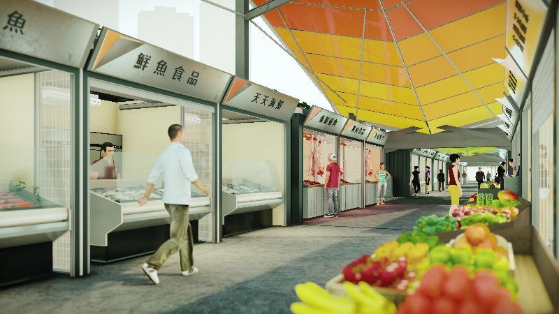 食物及衞生局今日(十月十日)宣布,將在天水圍設立臨時街市,約設有40個攤檔,集中售賣肉魚蔬果等新鮮食材。