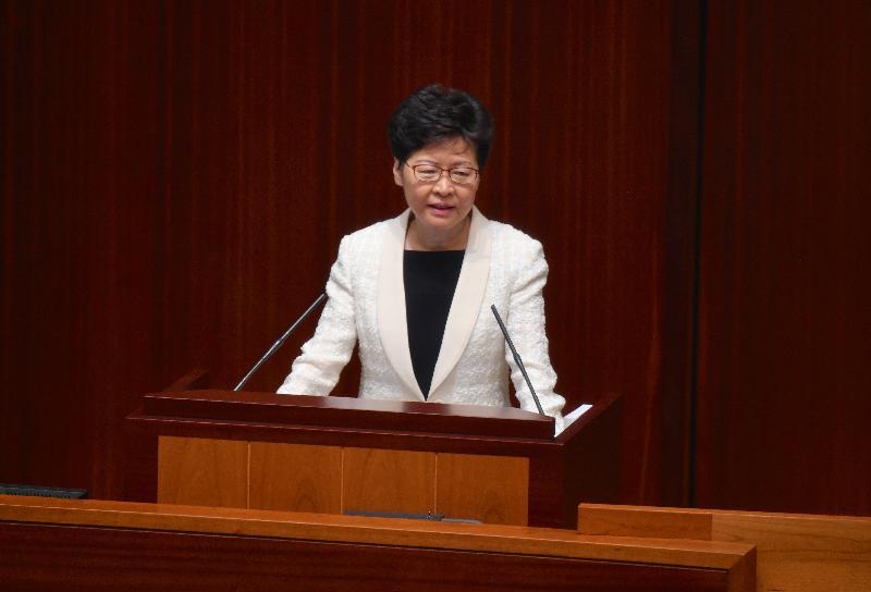 行政長官林鄭月娥今日(十月十七日)在立法會出席《行政長官2019年施政報告》答問會。