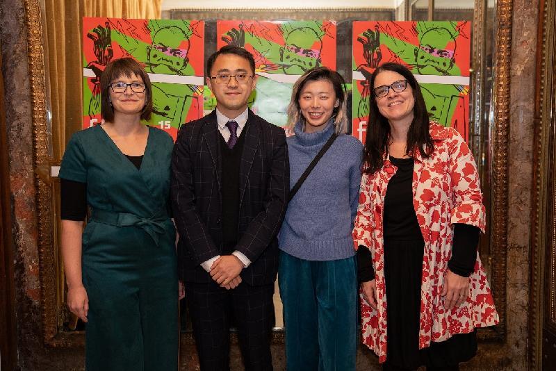 香港駐柏林經濟貿易辦事處(駐柏林經貿辦)再度贊助於十二月五日至八日(布拉格時間)在布拉格舉行的第十五屆亞洲影展,繼續支持香港電影業發展。圖示駐柏林經貿辦處長李志鵬(左二)、駐柏林經貿辦公共關係主管Stephanie Pall(左一)、亞洲影展總監Karla Stojáková(右一)和香港城市大學代表Iresa Cho(右二)在十二月五日(布拉格時間)的亞洲影展開幕禮上合照。