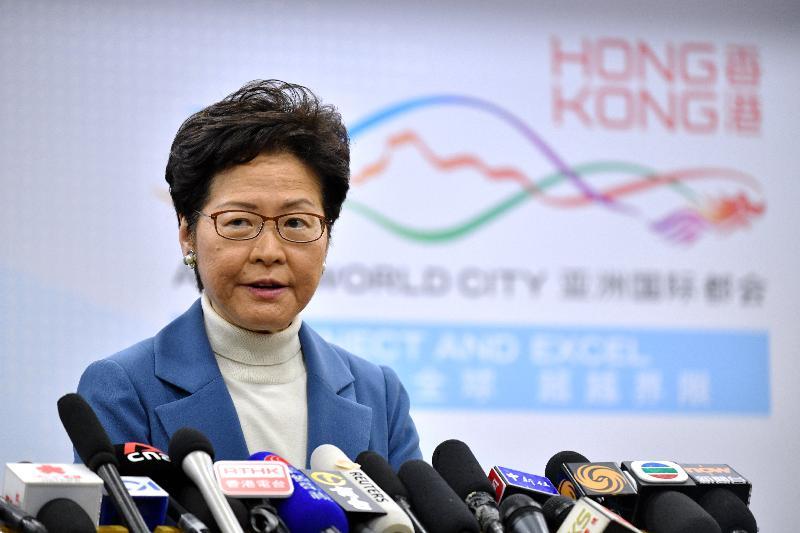 行政長官林鄭月娥今日(十二月十六日)下午在北京會見傳媒,總結訪京之行。
