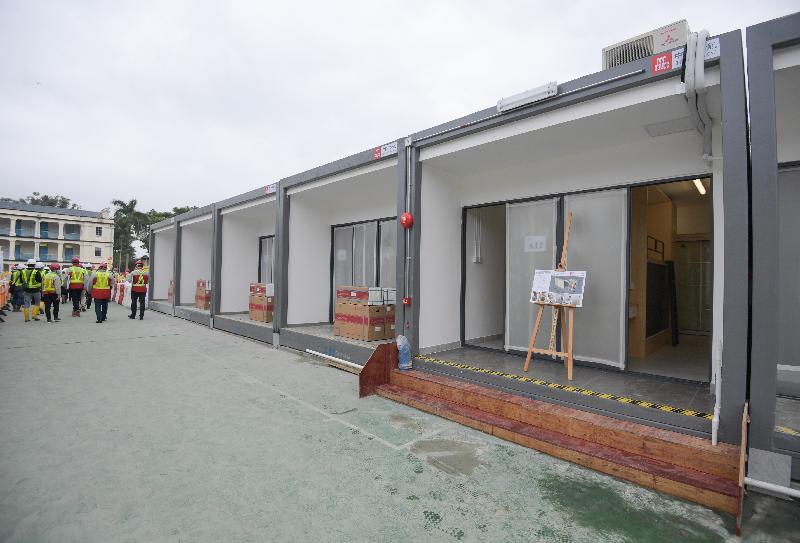 圖示在鯉魚門公園度假村所在地,以組合屋形式增建的流動單位。