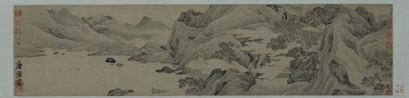 「眾樂樂──至樂樓藏品選」第二期展覽明日(五月二十二日)起在香港藝術館開放予公眾參觀。圖示唐寅(1470 ─ 1524)的《桃花菴》。(香港藝術館至樂樓藏品)