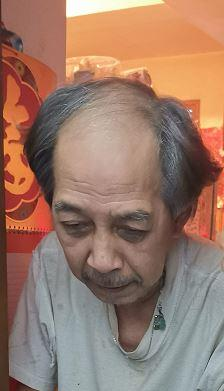 Lo Chi-hoi, aged 74, is about 1.68 metres tall, 50 kilograms in weight and of thin build. He has a round face with yellow complexion and short grey hair. He was last seen wearing a green short-sleeved shirt, grey trousers with a black bag.