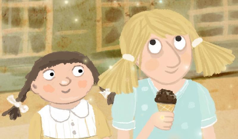康樂及文化事務署電影節目辦事處的「國際兒童及青少年電影合家歡2020」,精選多部世界各地的動畫、長片和短片,為大小朋友帶來精彩的夏日娛樂。圖示「世界動畫短片樂園3」中《仲夏雪糕戀》(2017)劇照。