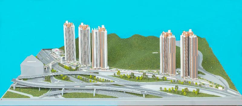 「出售居者有其屋計劃單位2020」九月十日開始接受購買申請。圖示該計劃的發展項目錦駿苑的模型。
