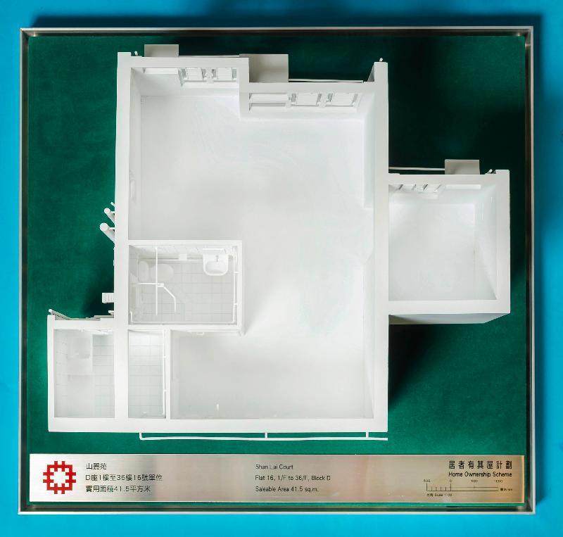 「出售居者有其屋計劃單位2020」九月十日開始接受購買申請。圖示該計劃的發展項目山麗苑D座1樓至36樓16號單位模型。