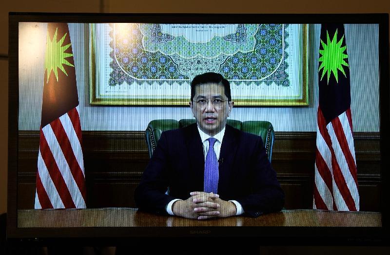 商務及經濟發展局今日(九月二十四日)與馬來西亞國際貿易及工業部合辦題為「香港—馬來西亞:同創機遇」的網上研討會,加強兩地在貿易、投資、經濟合作、項目融資和科技等多方面的協作。圖示馬來西亞高級部長、國際貿易及工業部部長Dato' Seri Mohamed Azmin Ali在網上研討會致辭。