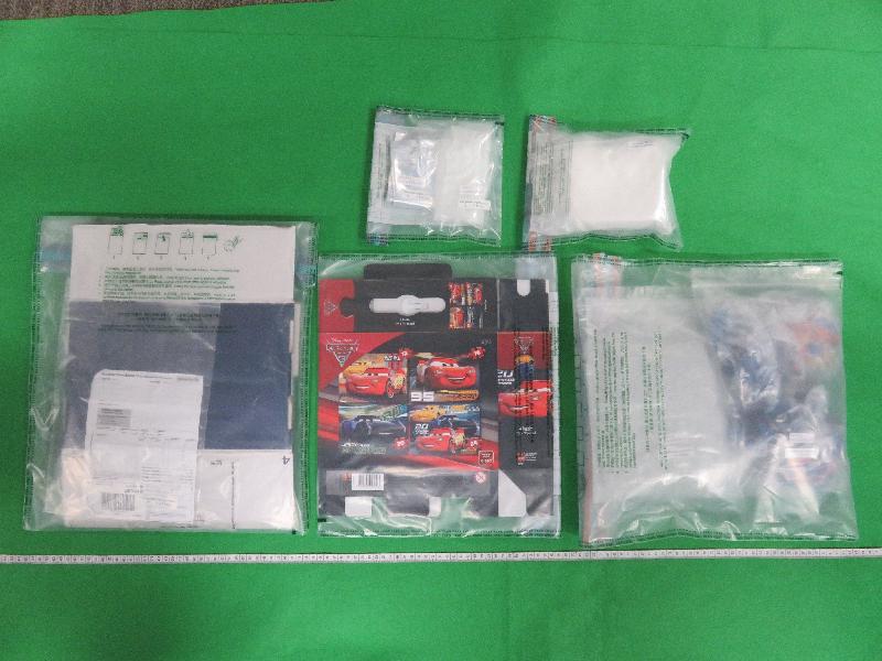香港海關於空運郵包檢獲懷疑可卡因