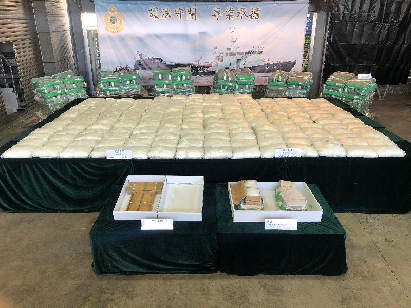 香港海關檢獲破紀錄市值近三億元懷疑冰毒