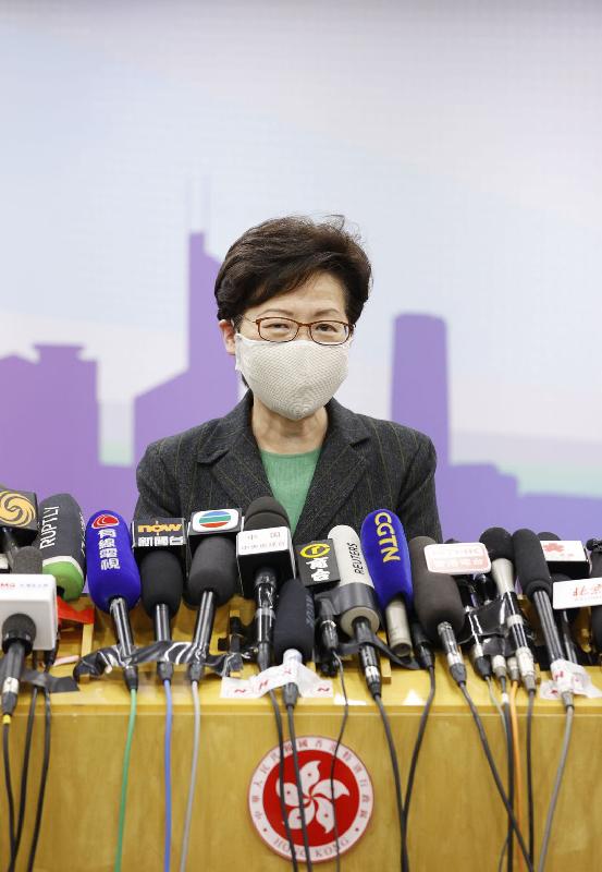 行政長官林鄭月娥今日(十一月六日)在北京會見傳媒。