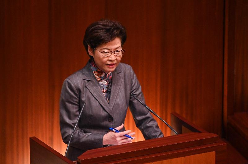 行政長官林鄭月娥今日(十一月二十六日)在立法會出席《行政長官2020年施政報告》答問會。