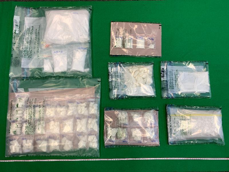 香港海關檢獲懷疑毒品及懷疑非那西丁