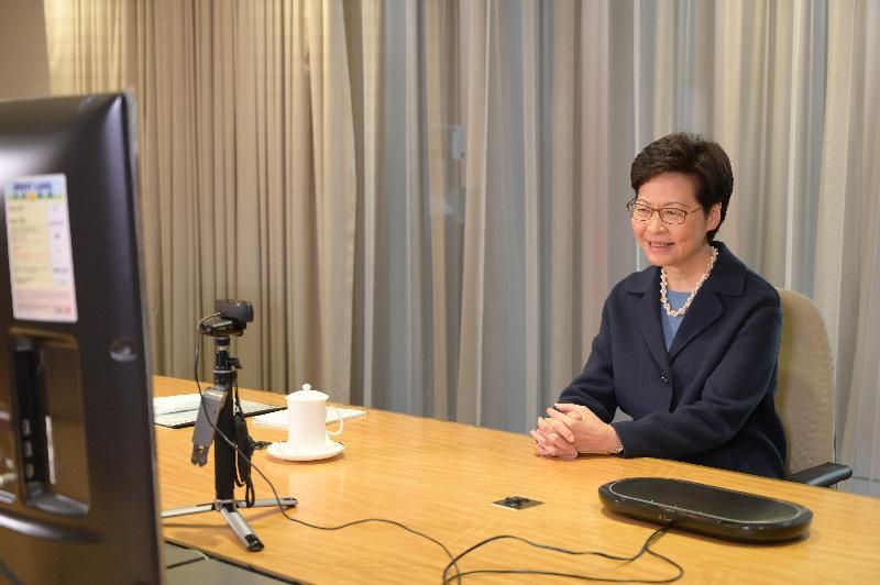 於十二月七日及八日(美國東岸時間)在網上舉行的《華爾街日報》行政總裁議會高峰會專訪環節中,林鄭月娥接受《華爾街日報》訪問。
