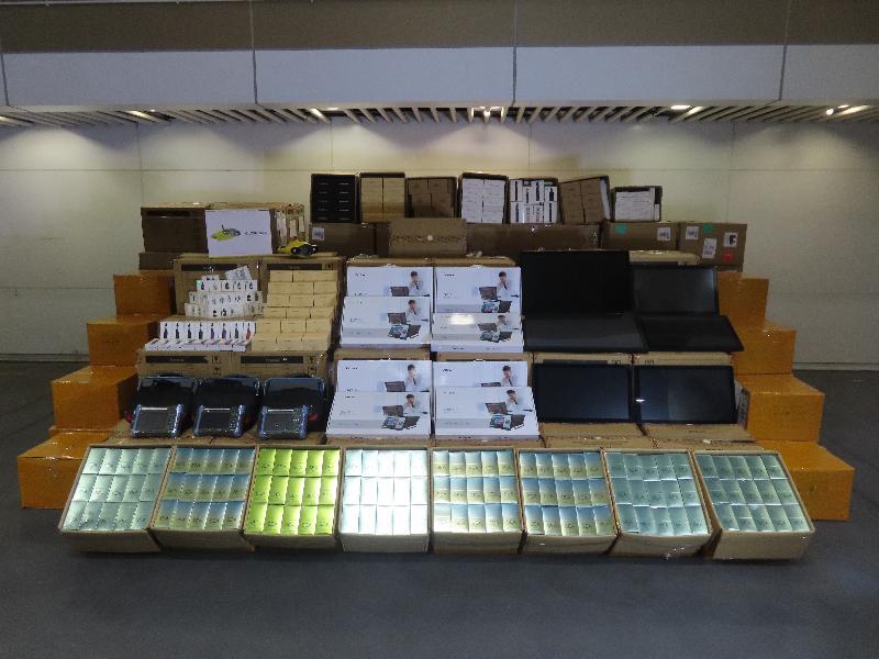 香港海關檢獲懷疑走私貨物
