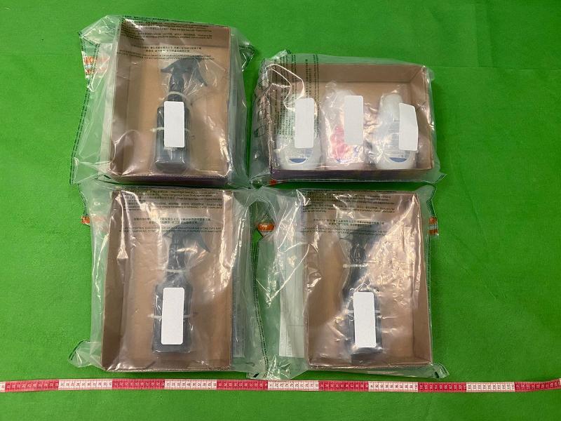 香港海關檢獲懷疑液態可卡因