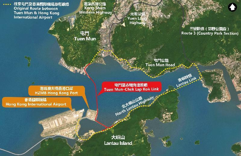 屯門至赤鱲角北面連接路開通後,往返屯門南與香港國際機場可節省20分鐘時間。