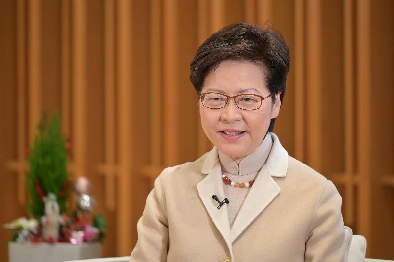 行政長官林鄭月娥今日(十二月二十九日)在第十一屆「央視財經論壇•香港」,透過視像致辭。