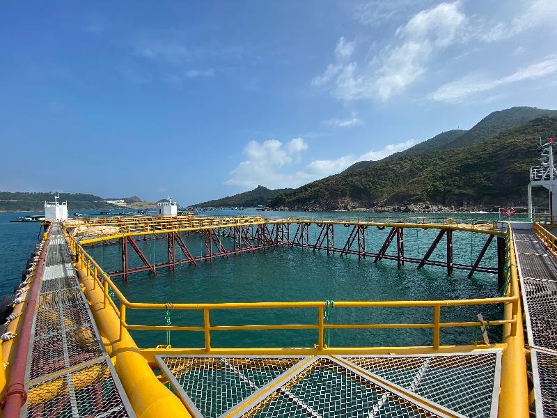2021本地漁農美食嘉年華由今日(一月八日)至二月七日,連續一個月於網上舉行,並展銷多種本地漁農產品和美食。圖示漁展區展示的現代化海水養殖技術發展培訓基地。