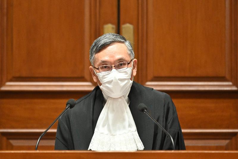 終審法院首席法官張舉能今日(一月十一日)在二○二一年法律年度開啟典禮上發表演辭。
