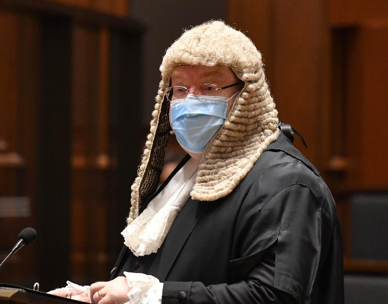 香港大律師公會主席戴啟思資深大律師今日(一月十一日)在二○二一年法律年度開啟典禮上發表演辭。