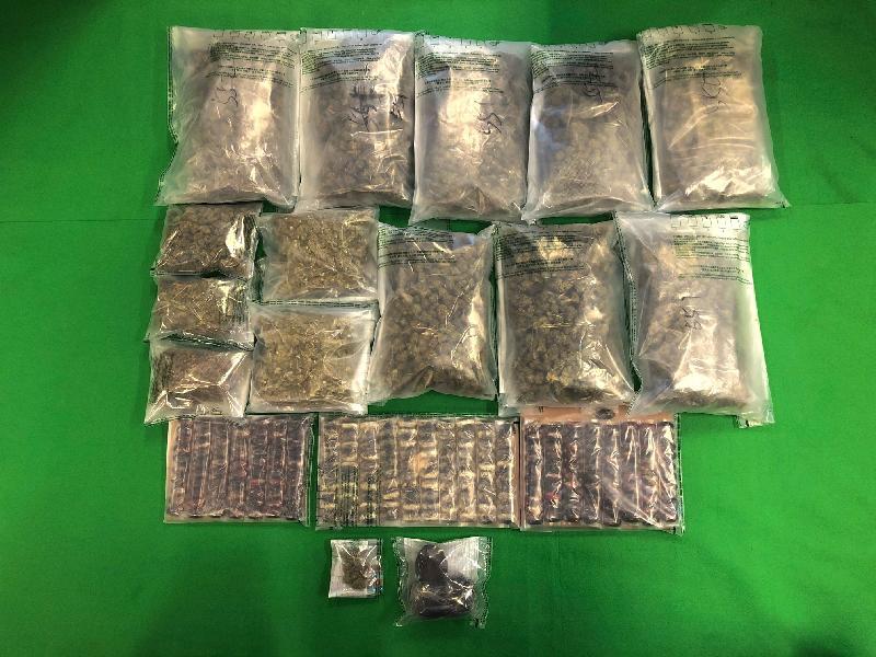 香港海關檢獲約八百三十萬元懷疑毒品