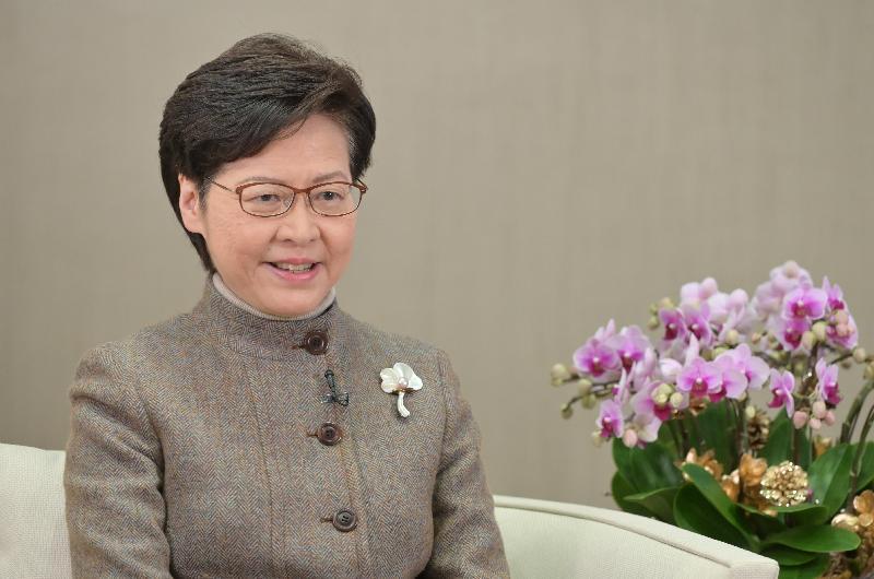 行政長官林鄭月娥今日(一月十八日)在網上舉行的第十四屆亞洲金融論壇,透過視像致辭。