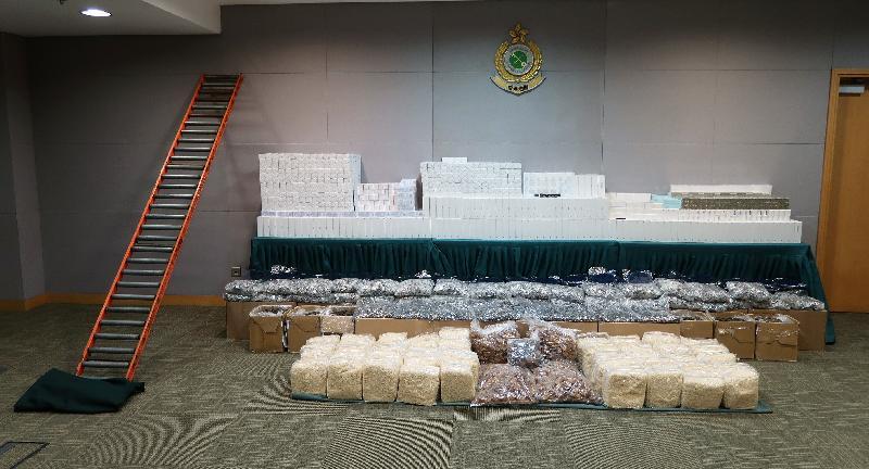 香港海關檢獲約二千萬元懷疑走私貨物