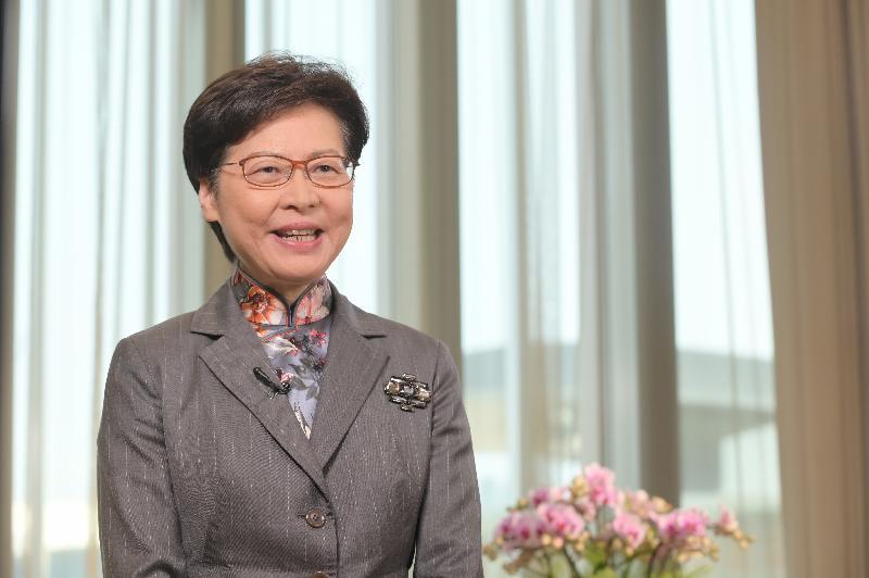行政長官林鄭月娥今日(三月二十七日)在香港青年獎勵計劃賽馬會愛丁堡公爵訓練營開幕禮透過視像致辭。