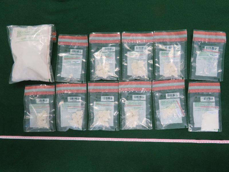 香港海關檢獲懷疑可卡因及霹靂可卡因