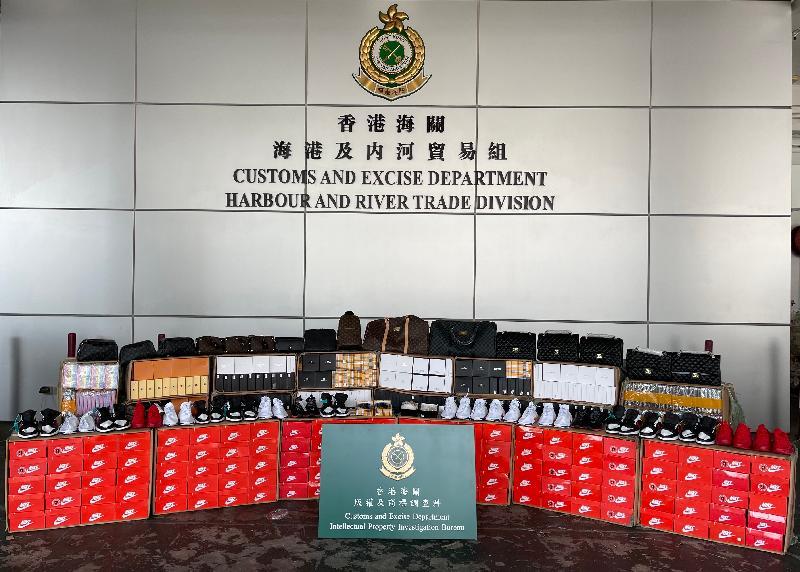 香港海關檢獲懷疑冒牌貨物