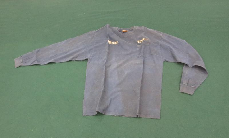 Hong Kong Customs yesterday (May 6) seized 44 pieces of clothing soaked with suspected heroin with a total weight of about 12 kilograms at Hong Kong International Airport. The estimated market value of the drug was about $15.8 million. Photo shows one of the clothing items soaked with suspected heroin.