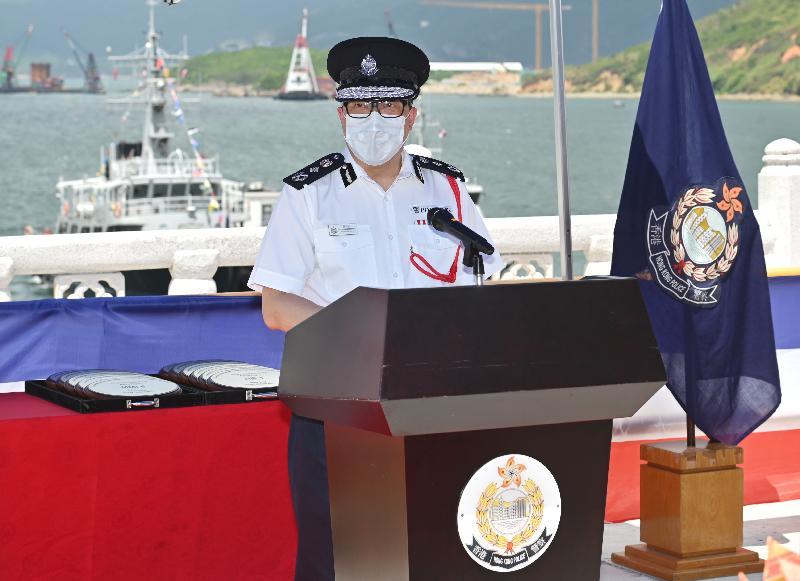 水警啟用新船提升海上執法能力