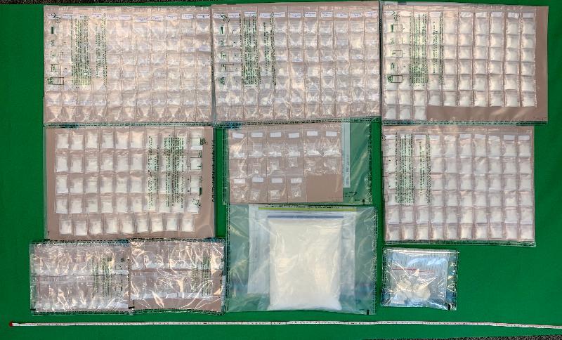 香港海關檢獲懷疑氯胺酮及懷疑霹靂可卡因