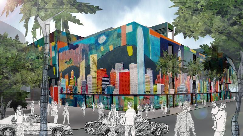 香港科學館及香港歷史博物館擴建工程「1+1設計比賽」得獎作品今日(七月十七日)起在香港科學館展出。圖示比賽甲部得獎設計作品。