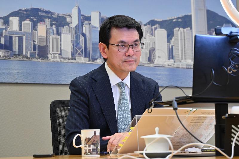 商務及經濟發展局局長邱騰華今日(九月十四日)出席第五屆中國香港—東南亞國家聯盟經貿部長會議。