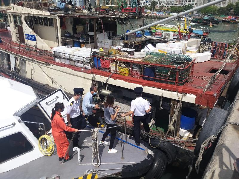 食物環境衞生署今日(九月十四日)與海事處及警方採取聯合行動,打擊在屯門避風塘海旁及青山灣海濱長廊一帶的非法販賣魚類海產活動,以保障食物安全。