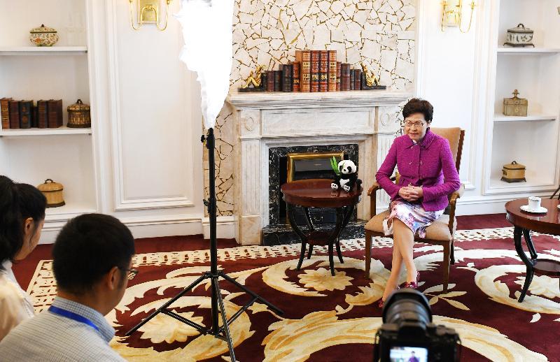 行政長官林鄭月娥今日(九月二十三日)在成都接受四川媒體訪問。
