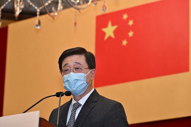 署理行政長官李家超今日(九月二十七日)下午出席「香港工商界同胞慶祝大會——中華人民共和國成立72周年暨中國共產黨成立100周年」,並在會上致辭。