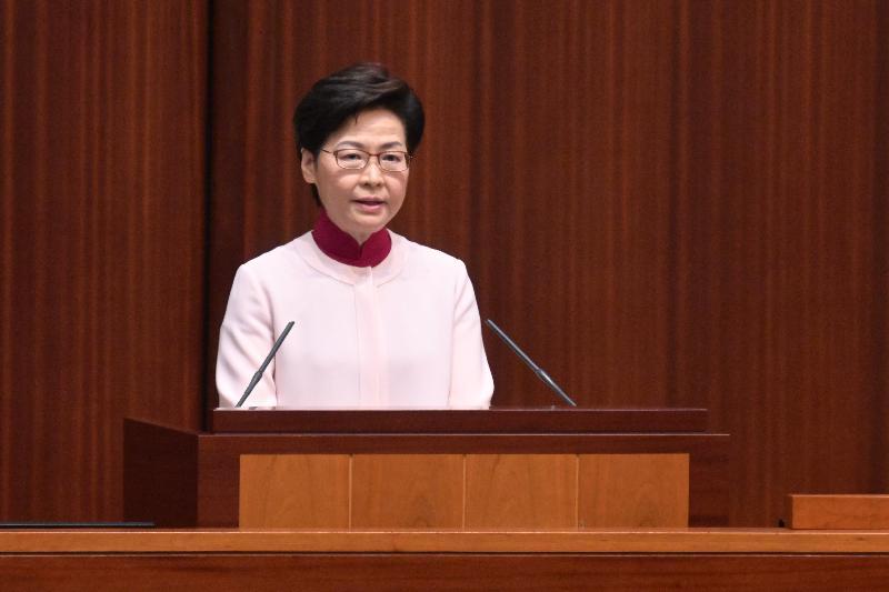 行政長官林鄭月娥今日(十月六日)在立法會發表《行政長官2021年施政報告》。