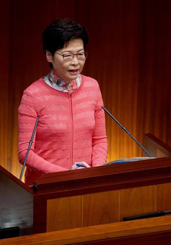行政長官林鄭月娥今日(十月七日)在立法會出席《行政長官2021年施政報告》答問會。